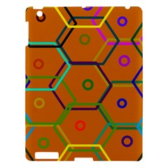 Color Bee Hive Color Bee Hive Pattern Apple Ipad 3/4 Hardshell Case by Nexatart
