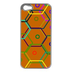 Color Bee Hive Color Bee Hive Pattern Apple Iphone 5 Case (silver) by Nexatart