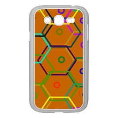 Color Bee Hive Color Bee Hive Pattern Samsung Galaxy Grand Duos I9082 Case (white) by Nexatart