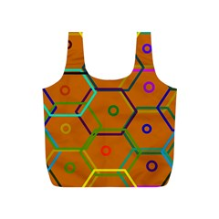 Color Bee Hive Color Bee Hive Pattern Full Print Recycle Bags (s)  by Nexatart