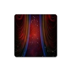 Bright Background With Stars And Air Curtains Square Magnet by Nexatart