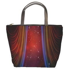 Bright Background With Stars And Air Curtains Bucket Bags by Nexatart
