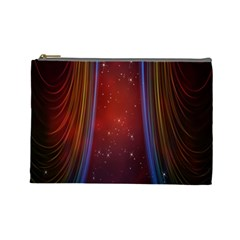 Bright Background With Stars And Air Curtains Cosmetic Bag (large)  by Nexatart