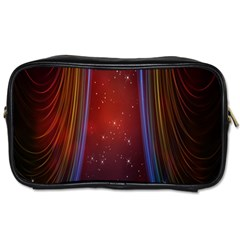 Bright Background With Stars And Air Curtains Toiletries Bags by Nexatart