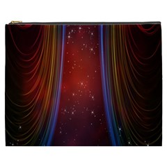 Bright Background With Stars And Air Curtains Cosmetic Bag (xxxl)  by Nexatart