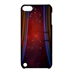 Bright Background With Stars And Air Curtains Apple Ipod Touch 5 Hardshell Case With Stand by Nexatart