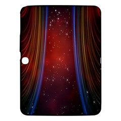 Bright Background With Stars And Air Curtains Samsung Galaxy Tab 3 (10 1 ) P5200 Hardshell Case