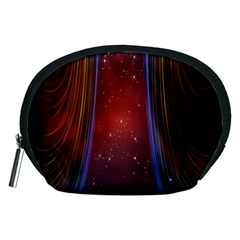Bright Background With Stars And Air Curtains Accessory Pouches (medium)  by Nexatart