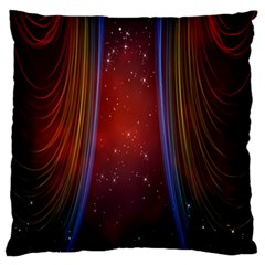 Bright Background With Stars And Air Curtains Large Flano Cushion Case (one Side) by Nexatart