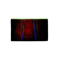 Bright Background With Stars And Air Curtains Cosmetic Bag (xs) by Nexatart