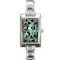 Wallpaper Background With Lighted Pattern Rectangle Italian Charm Watch by Nexatart