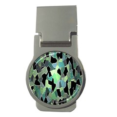 Wallpaper Background With Lighted Pattern Money Clips (round)  by Nexatart
