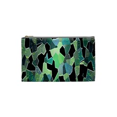 Wallpaper Background With Lighted Pattern Cosmetic Bag (small)  by Nexatart