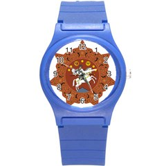 Coat Of Arms Of The Democratic Republic Of Georgia (1918 1921, 1990 2004) Round Plastic Sport Watch (s) by abbeyz71