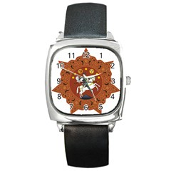 Coat Of Arms Of Republic Of Georgia (1918 1921, 1990 2004) Square Metal Watch by abbeyz71