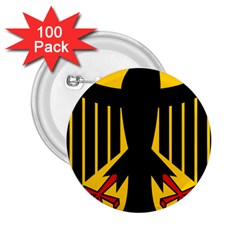 Coat Of Arms Of Germany 2 25  Buttons (100 Pack)