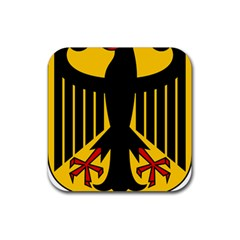 Coat Of Arms Of Germany Rubber Square Coaster (4 Pack)  by abbeyz71