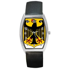 Coat Of Arms Of Germany Barrel Style Metal Watch by abbeyz71
