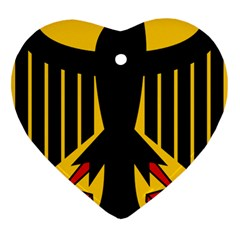 Coat Of Arms Of Germany Heart Ornament (two Sides) by abbeyz71