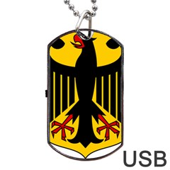 Coat Of Arms Of Germany Dog Tag Usb Flash (two Sides) by abbeyz71