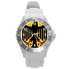 Coat Of Arms Of Germany Round Plastic Sport Watch (l)