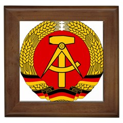 National Emblem Of East Germany  Framed Tiles by abbeyz71