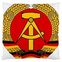 National Emblem Of East Germany  Large Cushion Case (two Sides) by abbeyz71