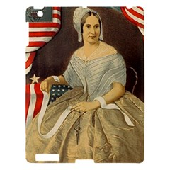 Betsy Ross Author Of The First American Flag And Seal Patriotic Usa Vintage Portrait Apple Ipad 3/4 Hardshell Case by yoursparklingshop