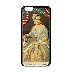 Betsy Ross Author Of The First American Flag And Seal Patriotic Usa Vintage Portrait Apple Iphone 6/6s Black Enamel Case by yoursparklingshop