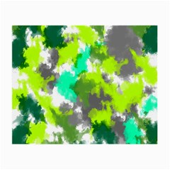 Abstract Watercolor Background Wallpaper Of Watercolor Splashes Green Hues Small Glasses Cloth (2 Side) by Nexatart