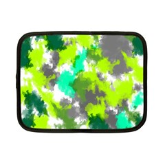 Abstract Watercolor Background Wallpaper Of Watercolor Splashes Green Hues Netbook Case (small)  by Nexatart