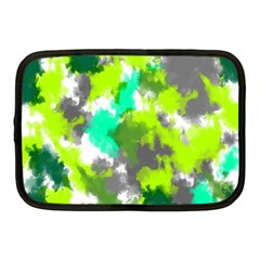 Abstract Watercolor Background Wallpaper Of Watercolor Splashes Green Hues Netbook Case (medium)  by Nexatart
