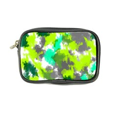 Abstract Watercolor Background Wallpaper Of Watercolor Splashes Green Hues Coin Purse by Nexatart