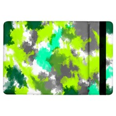 Abstract Watercolor Background Wallpaper Of Watercolor Splashes Green Hues Ipad Air Flip by Nexatart