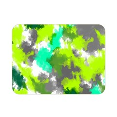 Abstract Watercolor Background Wallpaper Of Watercolor Splashes Green Hues Double Sided Flano Blanket (mini)  by Nexatart