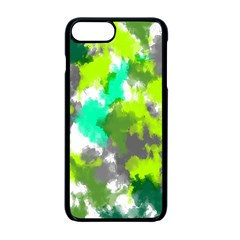 Abstract Watercolor Background Wallpaper Of Watercolor Splashes Green Hues Apple Iphone 7 Plus Seamless Case (black)