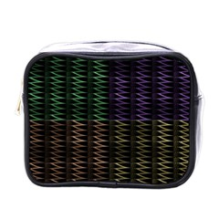 Multicolor Pattern Digital Computer Graphic Mini Toiletries Bags