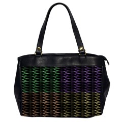 Multicolor Pattern Digital Computer Graphic Office Handbags (2 Sides)