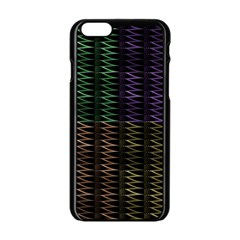 Multicolor Pattern Digital Computer Graphic Apple Iphone 6/6s Black Enamel Case by Nexatart