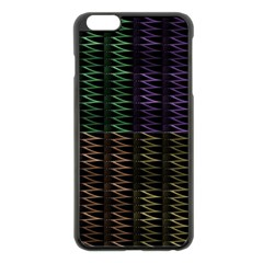 Multicolor Pattern Digital Computer Graphic Apple Iphone 6 Plus/6s Plus Black Enamel Case by Nexatart