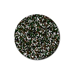 Camouflaged Seamless Pattern Abstract Rubber Coaster (round)  by Nexatart