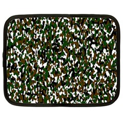 Camouflaged Seamless Pattern Abstract Netbook Case (xxl)  by Nexatart