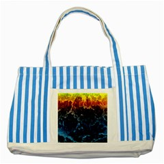 Abstract Background Striped Blue Tote Bag by Nexatart