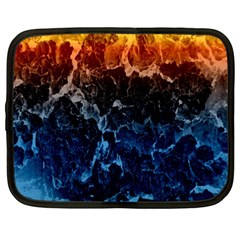 Abstract Background Netbook Case (large)