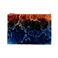 Abstract Background Cosmetic Bag (large)  by Nexatart