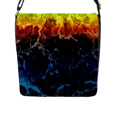 Abstract Background Flap Messenger Bag (l)