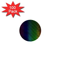 Digitally Created Halftone Dots Abstract Background Design 1  Mini Buttons (100 Pack)  by Nexatart