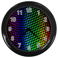 Digitally Created Halftone Dots Abstract Background Design Wall Clocks (black) by Nexatart