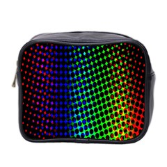 Digitally Created Halftone Dots Abstract Background Design Mini Toiletries Bag 2 Side by Nexatart