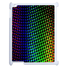 Digitally Created Halftone Dots Abstract Background Design Apple Ipad 2 Case (white) by Nexatart